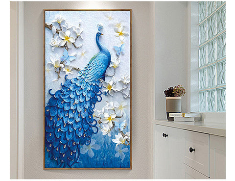 Image of DIY 5D Diamond Painting Peacock
