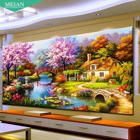 5D Diamond painting,Diamonds Dream Home