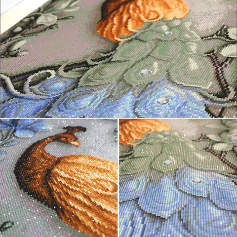 Image of DIY 5D Diamond Painting Beautiful Peacock