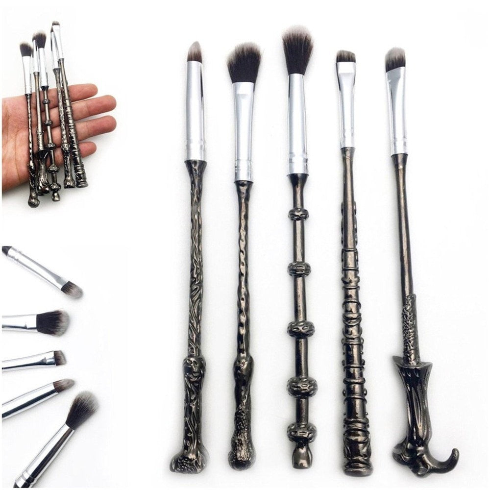 5pcs HP Wizard Wand Makeup Metal Brushes