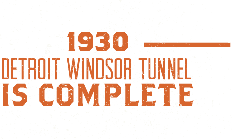 1930, Detroit Windsor Tunnel Is Complete
