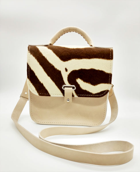 Zebra Print Top Handle Bag