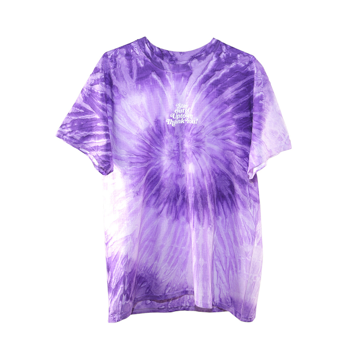 Stay Out of Uptown Tie Dye - Spiral Purple