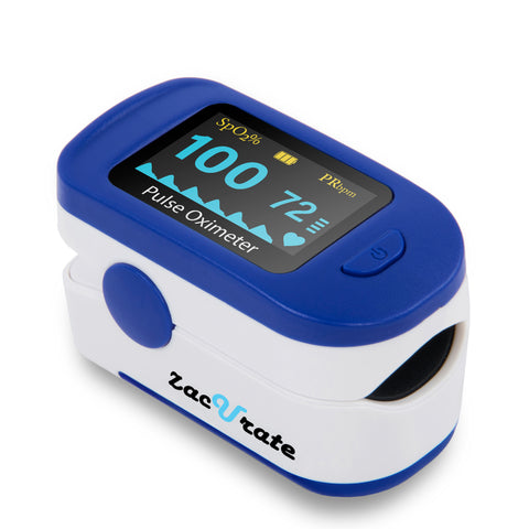 Zacurate 500B Deluxe Fingertip Pulse Oximeter Blood Oxygen Saturation Monitor - Med Shop and Beyond