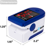 Zacurate Sapphire Blue Fingertip Pulse Oximeter Blood Oxygen Saturation Monitor - Med Shop and Beyond