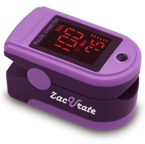 Zacurate 500DL Pro Series Fingertip Pulse Oximeter (Royal Purple)