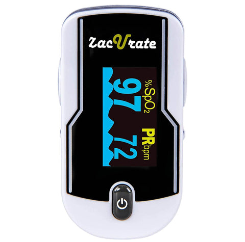 Zacurate® 500E Premium White Fingertip Pulse Oximeter