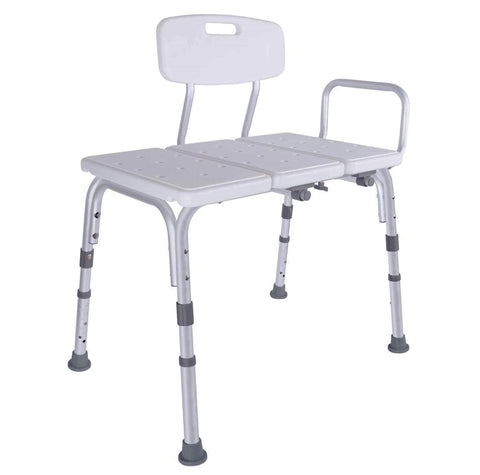 Vaunn Medical Bathtub and Shower Transfer Bench Chair (Height Adjustable)