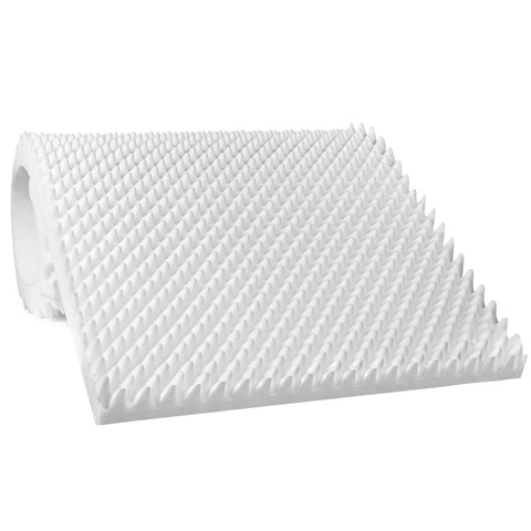 "Vaunn Medical Egg Crate Convoluted Foam Mattress Pad - 3"" Thick EggCrate Mattress Topper (Standard Twin Bed 38"" x 75"" x 3"") - Med Shop and Beyond"