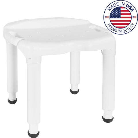 Vaunn Medical Tool-Free Assembly Spa Bathtub Adjustable Shower Chair, Bath Seat and Tub Bench - Med Shop and Beyond