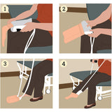 Vaunn Medical EZ-TUG Sock Aid Assist with Foam Grip Handles and Length Adjustable Cords (NOT for Compression Socks) - Med Shop and Beyond