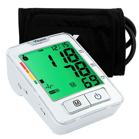 Vaunn Medical Fully Automatic Accurate Upper Arm Digital Blood Pressure Monitor and Pulse Rate Monitoring Machine (Sphygmomanometer) with Patented Smartcheck and GentleRead Technology - FDA Cleared - Med Shop and Beyond