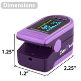 Zacurate 500D Deluxe Pro Series Fingertip Pulse Oximeter (Royal Purple) - Med Shop and Beyond