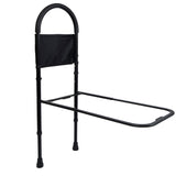 Vaunn Medical Adjustable Bed Assist Rail Handle and Hand Guard Grab Bar (Mystic Black) - Med Shop and Beyond