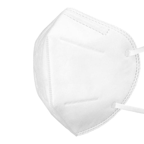 10 Pack Disposable KN95 Face Masks with Elastic Ear Loop, Breathable and Comfortable for Blocking Dust Air Pollution Dust Protection (White) - Med Shop and Beyond