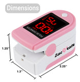 Zacurate 500DL Pro Series Fingertip Pulse Oximeter (Blushing Pink) - Med Shop and Beyond