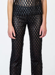 Lace Straight Leg Pants