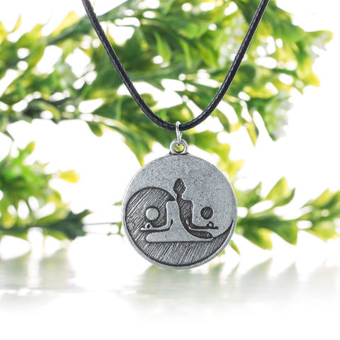 Yin Yang Silver Meditation Necklace