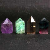 Amethyst & Green and Purple Fluorite Crystal Wands