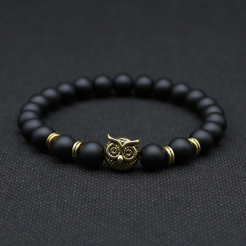 Gold or Silver Owl Bracelet