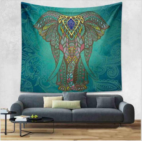 Boho Elephant or Mandala Wall Tapestry Hanging - Various Designs