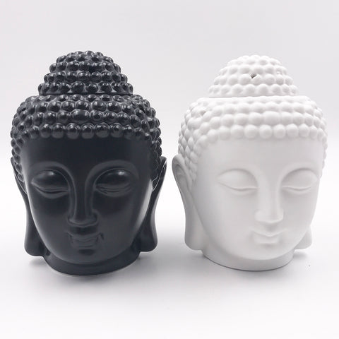 Buddha Head Candle Holder, Essential Oils and Incense Burner