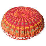 Colorful Mandala Meditation Pillow