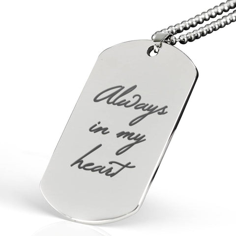 'Always In My Heart' Personalised Keepsake Necklace