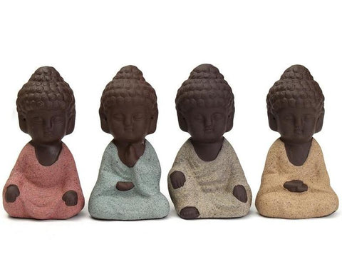 Mini Ceramic Buddha 'Mood' Figurine