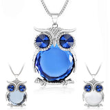 Rhinestone Owl Crystal Pendant Necklace