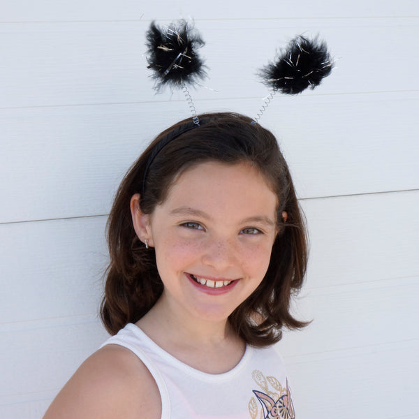 Feather Antenna Costume Headband Accessory - Black Halloween/Cosplay/Dress-Up