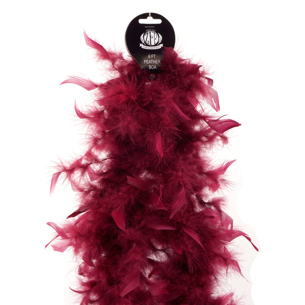 Zucker™ Chandelle Boas Solid Colors - Burgundy