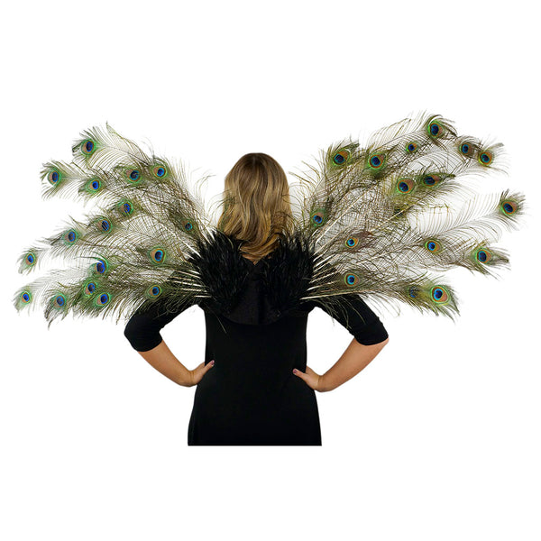 Adult Peacock Feather Costume Wing - Large Fairy Angel wings