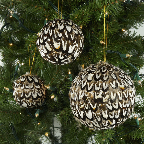 6 Inch Venery Feather Ornament - Natural