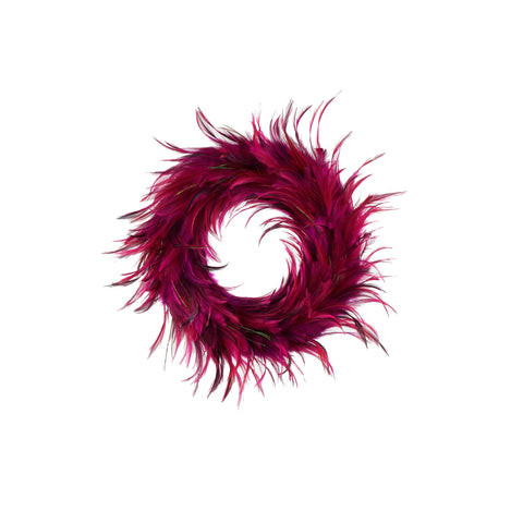 18 Inch Hackle-Flue Feather Wreath