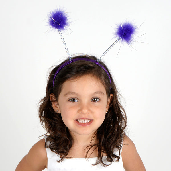 Antenna Costume Feather Headband - Lilac Ladybug Robot Space Alien Accessories