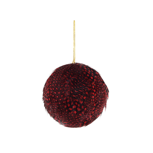 Guinea Feather Ornament - Dyed 3 Inch Ball