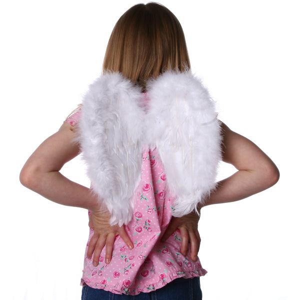 Small Angel Feather Costume Wing - Kids Halloween Costume Cosplay and Dress Up