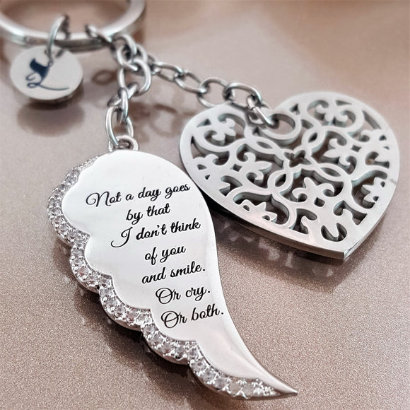 Guardian Angel And Wing Keychains