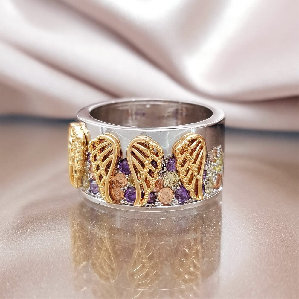 5e0c119a4 Angel Wings of Protection Ring - Linda's Stars