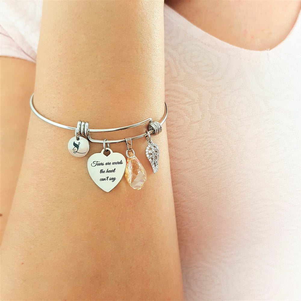 Sacredness In Tears Angel Bracelet