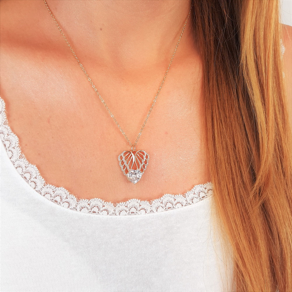Key Of Hope Guardian Angel Necklace