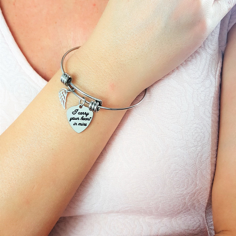 Your Heart In Mine Angel Bracelet