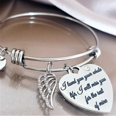 For The Rest of My Life Angel Wing Bracelet