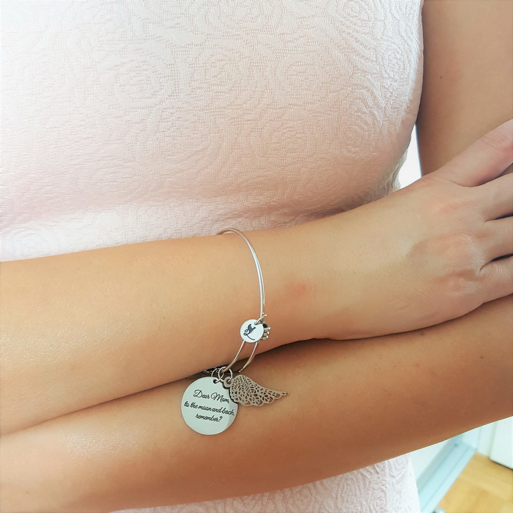 10 PACK: To the Moon and Back Angel Bracelet