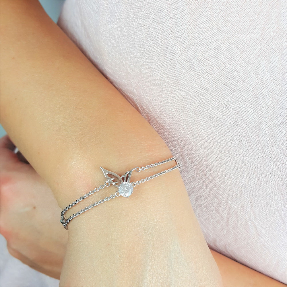 The Longing In My Soul Angel Wing Bracelet
