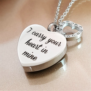 Necklaces for ashes lindas stars lindas stars forever in my heart angel necklace aloadofball Choice Image
