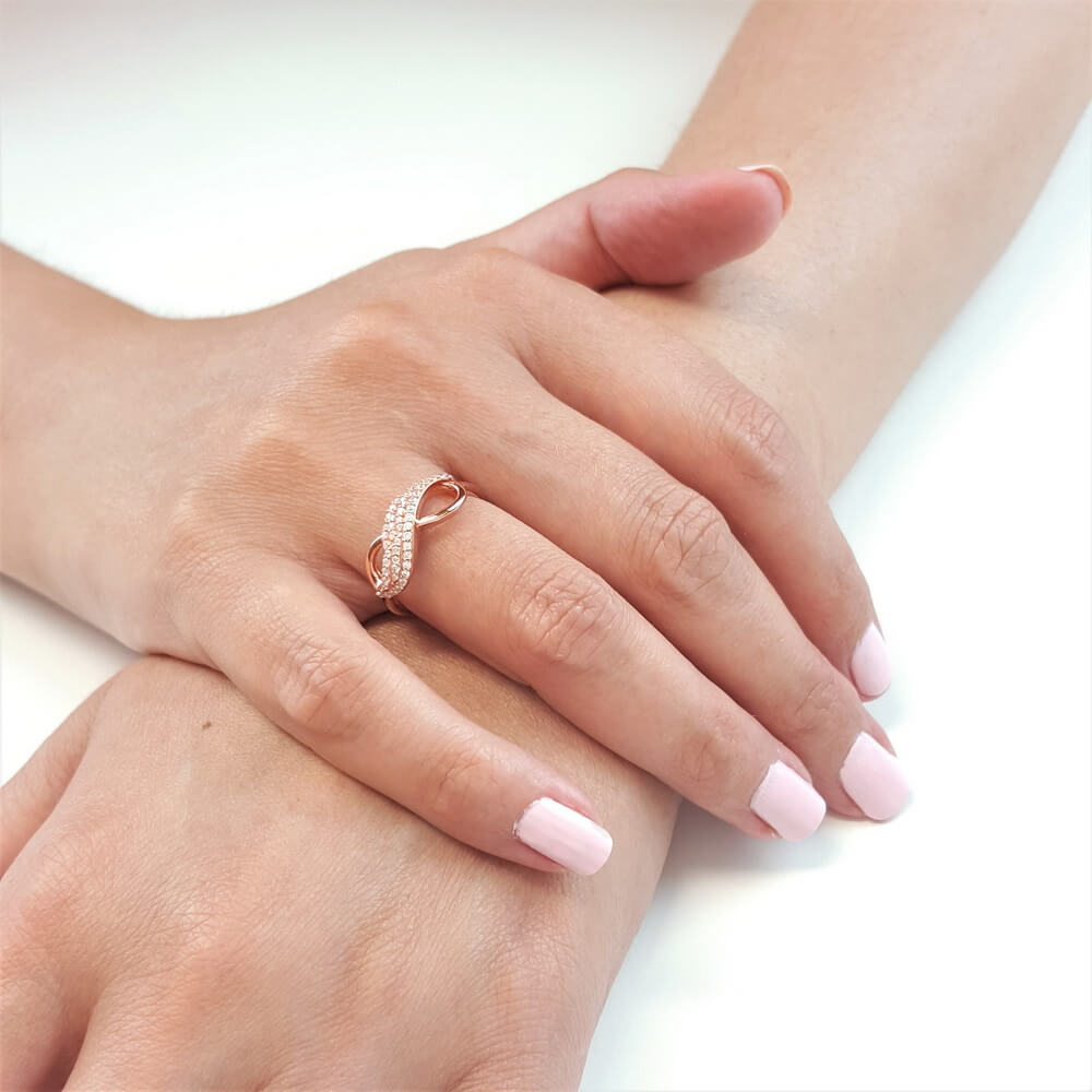 Love's Infinite Journey Angel Wing Ring