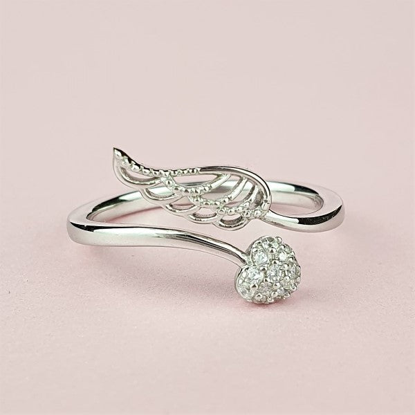 3ccb563bd Forever by My Side Angel Ring - Sterling Silver - Linda's Stars