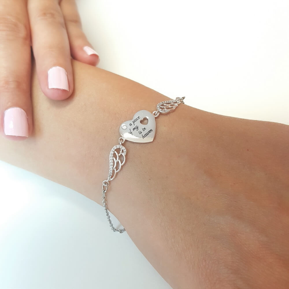 Treasured Memories Angel Wings Bracelet